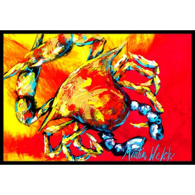 Crab Hot Dang Doormat Rug Size: Rectangle 2 x 3