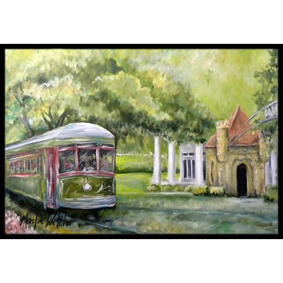 Streetcar Next Stop Audubon Park Doormat Mat Size: Rectangle 16 x 2 3