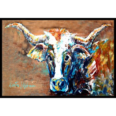 On The Loose Brown Cow Doormat Rug Size: Rectangle 16 x 2 3