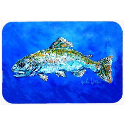 Fish Headed Downstream Kitchen/Bath Mat Size: 24 H x 36 W x 0.25 D