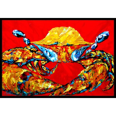Crab Fat and Sassy Doormat Mat Size: Rectangle 2 x 3