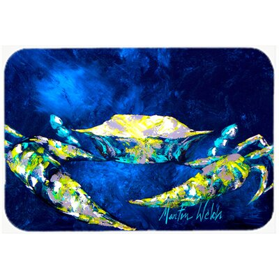 Crab Tealy Kitchen/Bath Mat Size: 24 H x 36 W x 0.25 D