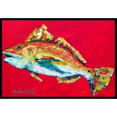 Fish Woo Hoo Doormat Mat Size: Rectangle 16 x 2 3