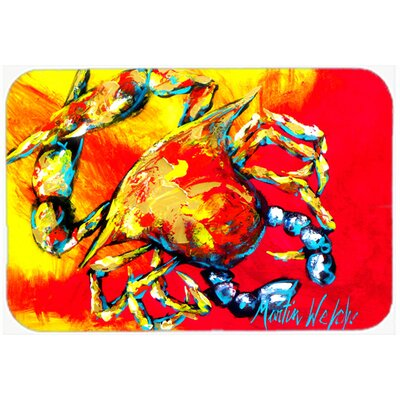 Crab Hot Dang Kitchen/Bath Mat Size: 24 H x 36 W x 0.25 D
