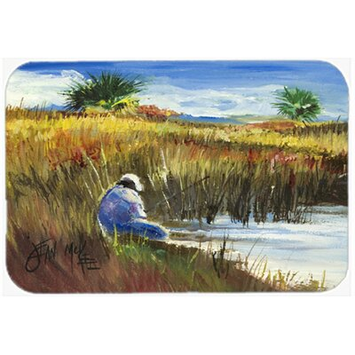 Fisherman on The Bank Kitchen/Bath Mat Size: 20 H x 30 W x 0.25 D