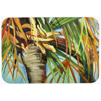 Orange Top Palm Tree Kitchen/Bath Mat Size: 24 H x 36 W x 0.25 D