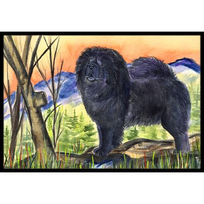 Chow Chow on Mountain Doormat Rug Size: Rectangle 16 x 2 3