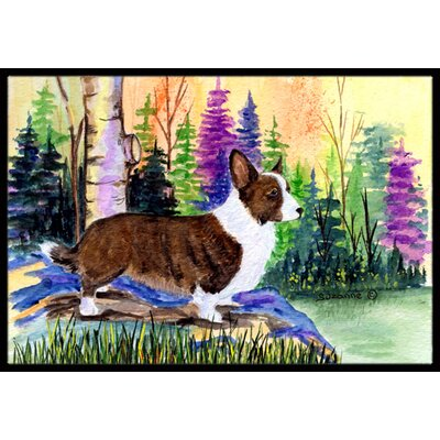 Corgi Doormat Rug Size: Rectangle 16 x 2 3