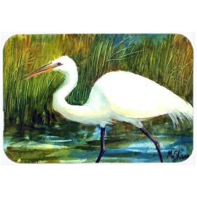 Bird Egret Kitchen/Bath Mat Size: 24 H x 36 W x 0.25 D