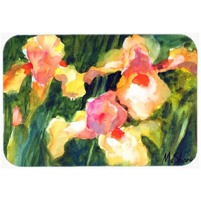 Flower Iris Kitchen/Bath Mat Size: 20 H x 30 W x 0.25 D