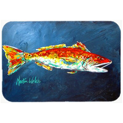 Fish for Jarett Kitchen/Bath Mat Size: 24