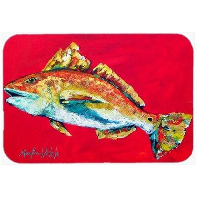 Fish Woo Hoo Kitchen/Bath Mat Size: 24 H x 36 W x 0.25 D
