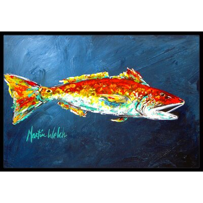 Fish for Jarett Doormat Rug Size: Rectangle 16 x 2 3