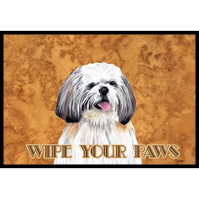 Shih Tzu Doormat Mat Size: Rectangle 16 x 2 3