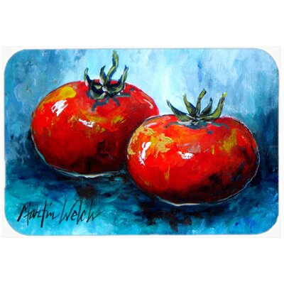 Vegetables TomatoesToes Kitchen/Bath Mat Size: 24 H x 36 W x 0.25 D
