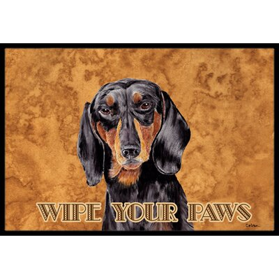 Dachshund Doormat Mat Size: Rectangle 2 x 3