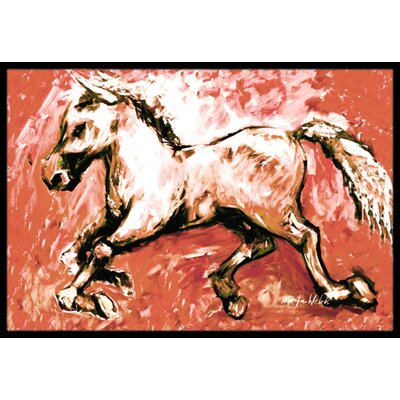 The Horse Doormat Mat Size: Rectangle 2 x 3
