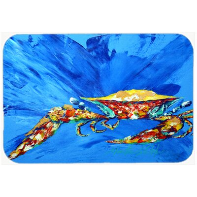 Big Spash Crab Kitchen/Bath Mat Size: 24 H x 36 W x 0.25 D