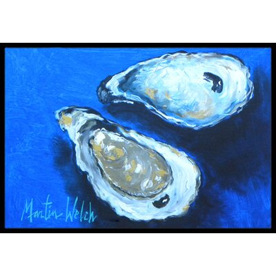 Oysters Seafood Four Doormat Mat Size: Rectangle 16 x 2 3
