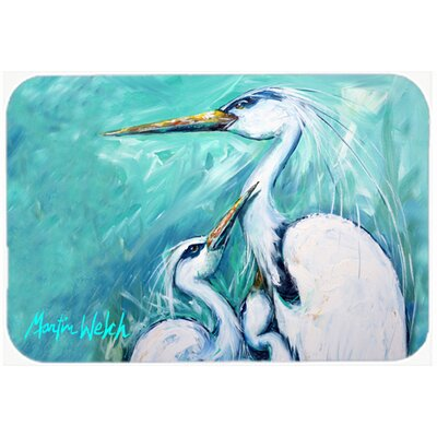Mothers Love Crane Kitchen/Bath Mat Size: 24 H x 36 W x 0.25 D