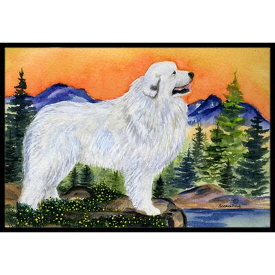 Great Pyrenees Doormat Mat Size: Rectangle 16 x 2 3