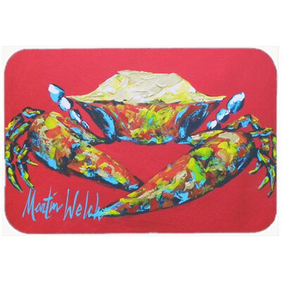 Crab Seafood One Kitchen/Bath Mat Size: 24 H x 36 W x 0.25 D