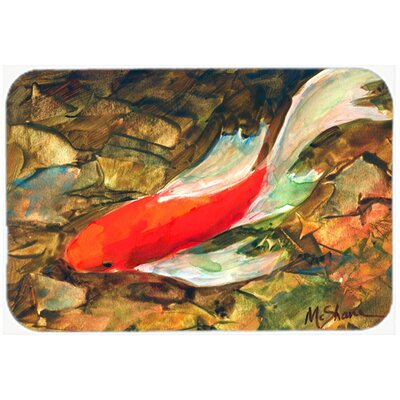 Fish Koi Kitchen/Bath Mat Size: 24 H x 36 W x 0.25 D