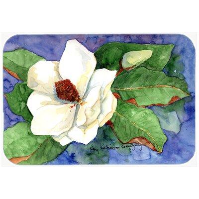 Flower Magnolia Kitchen/Bath Mat Size: 24 H x 36 W x 0.25 D
