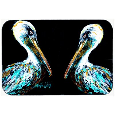 Dressed Pelican Kitchen/Bath Mat Size: 24 H x 36 W x 0.25 D