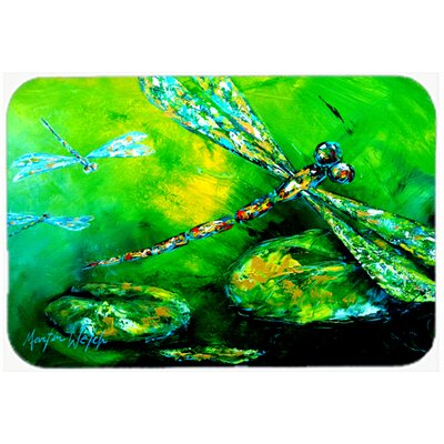 Dragonfly Summer Flies Kitchen/Bath Mat Size: 24 H x 36 W x 0.25 D