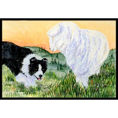 Bichon Frise Doormat Mat Size: Rectangle 16 x 2 3