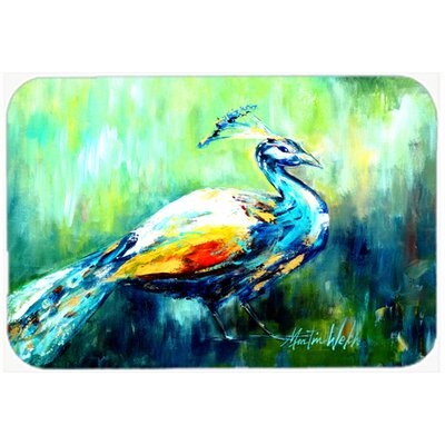 Proud Peacock Green Kitchen/Bath Mat Size: 24 H x 36 W x 0.25 D