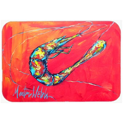 Shrimp Seafood Three Kitchen/Bath Mat Size: 24 H x 36 W x 0.25 D