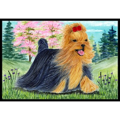 Yorkie Doormat Mat Size: Rectangle 16 x 2 3