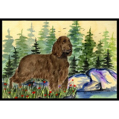 Field Spaniel Doormat Rug Size: Rectangle 2 x 3