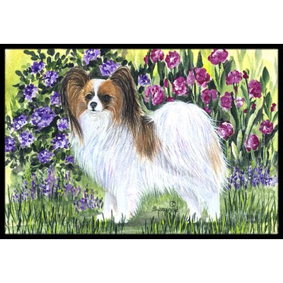 Papillon Doormat Mat Size: Rectangle 2 x 3