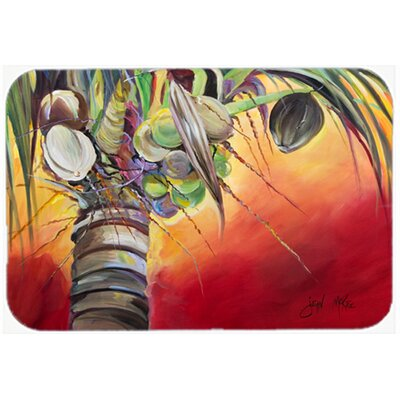 Sunset on The Coconut Tree Kitchen/Bath Mat Size: 24 H x 36 W x 0.25 D