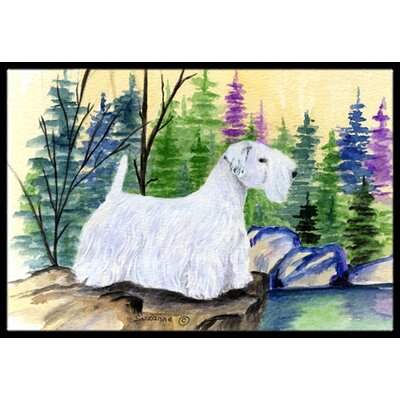 Sealyham Terrier Doormat Rug Size: Rectangle 16 x 2 3