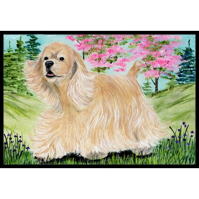 Cocker Spaniel Doormat Rug Size: Rectangle 16 x 2 3