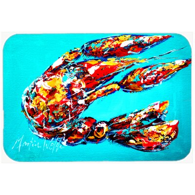 Lucy The Crawfish Kitchen/Bath Mat Size: 24 H x 36 W x 0.25 D