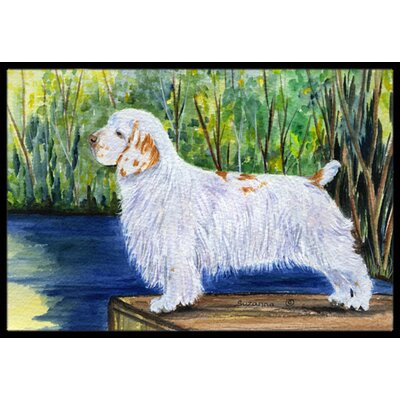 Clumber Spaniel Doormat Rug Size: Rectangle 2 x 3