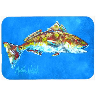 Fish Seafood Two Kitchen/Bath Mat Size: 24 H x 36 W x 0.25 D