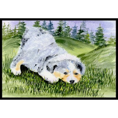 Australian Shepherd Doormat Mat Size: Rectangle 16 x 2 3