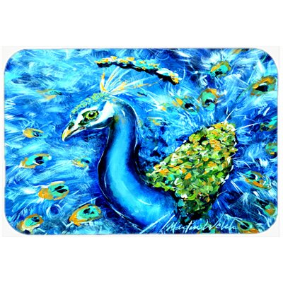 Peacock Straight Up Kitchen/Bath Mat Size: 24 H x 36 W x 0.25 D