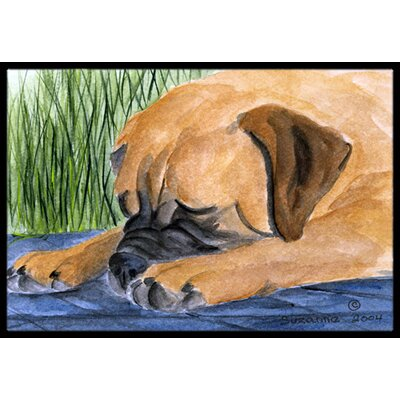 Bullmastiff Doormat Mat Size: Rectangle 2 x 3
