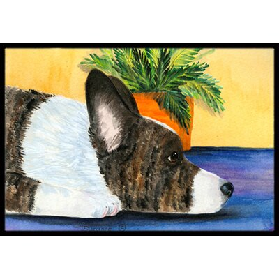 Corgi Doormat Mat Size: Rectangle 2 x 3