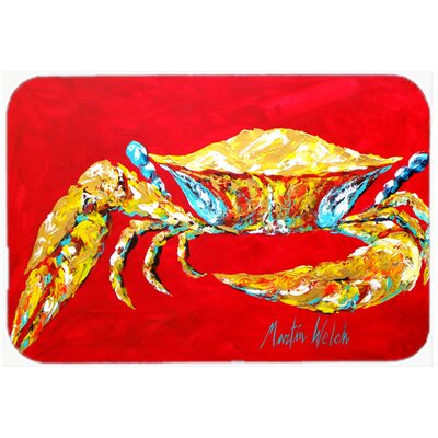 Crab Sr. Kitchen/Bath Mat Size: 24 H x 36 W x 0.25 D