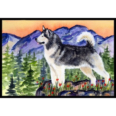 Alaskan Malamute Doormat Mat Size: Rectangle 2 x 3