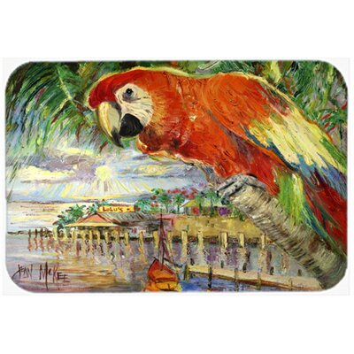 Parrot At Lulu's Kitchen/Bath Mat Size: 24