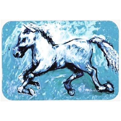 Shadow The Horse Kitchen/Bath Mat Size: 24 H x 36 W x 0.25 D